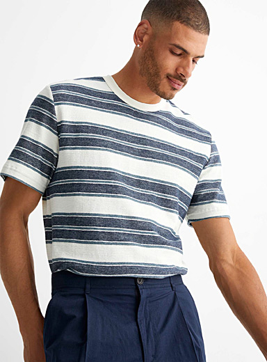 Katlego striped terry T-shirt