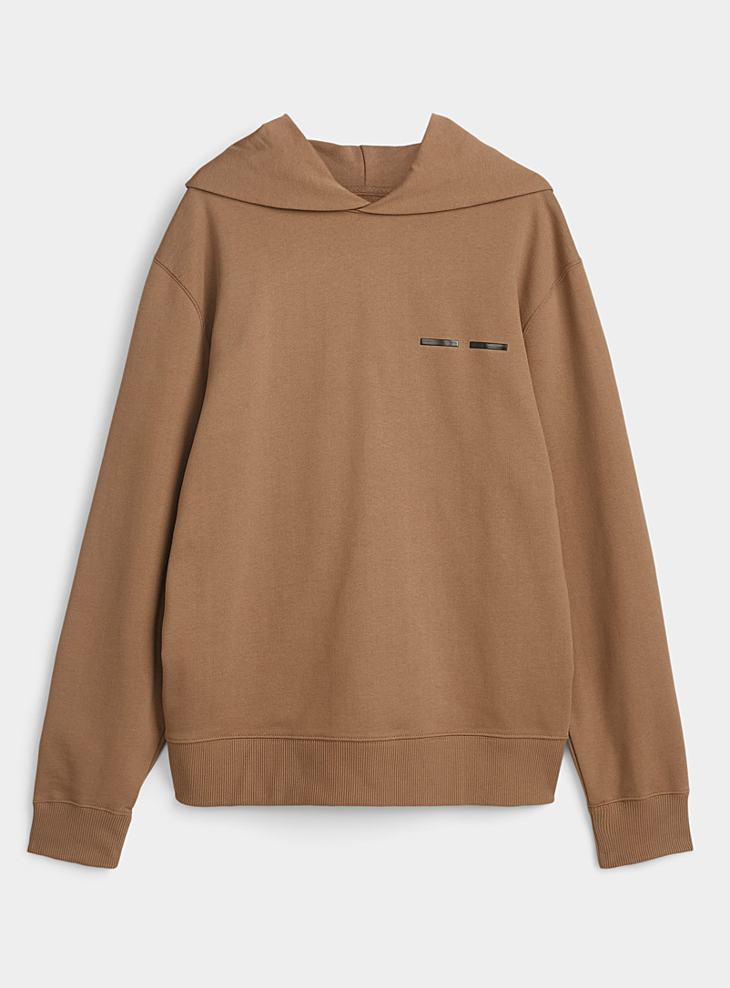 Sams?e & Sams?e Light Brown Natural earth hooded sweatshirt for men