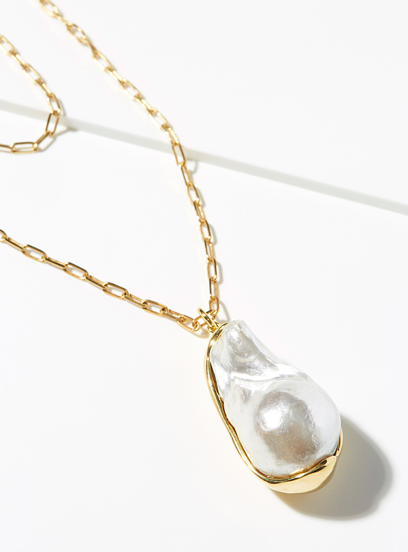 Joanna Laura Constantine Assorted Double chain pearl pendant for women
