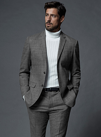 Etched Prince of Wales suit <br>London fit-Semi-slim