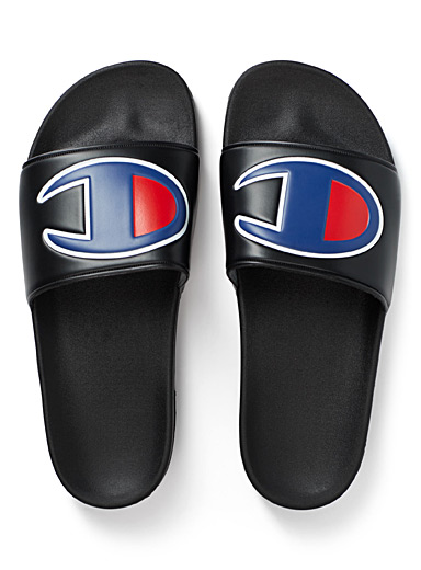 Oversized logo slides  Men