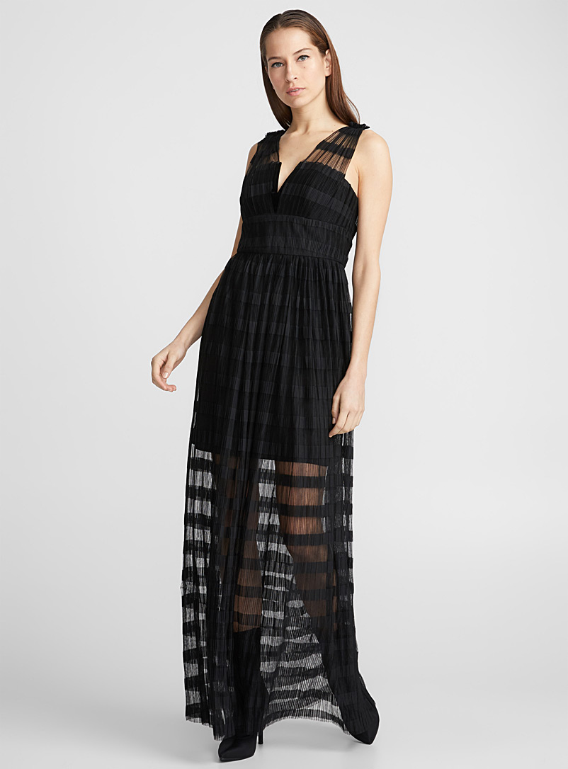 ombre-stripe-black-mesh-dress