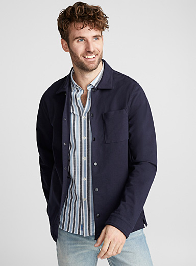 Jersey overshirt <br>Semi-tailored fit