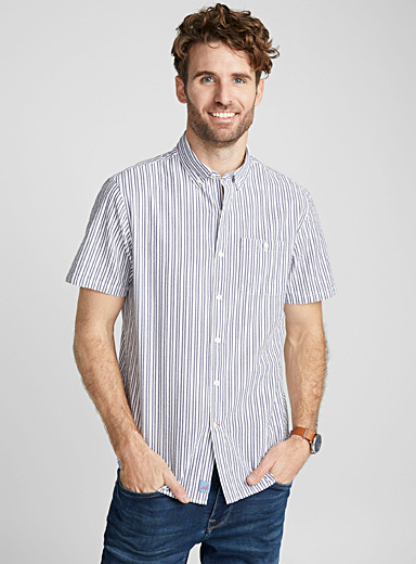 Double stripe shirt <br>Semi-tailored fit