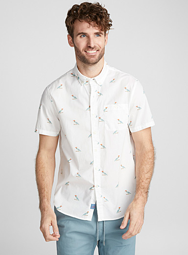 Perched parrot shirt <br>Semi-tailored fit