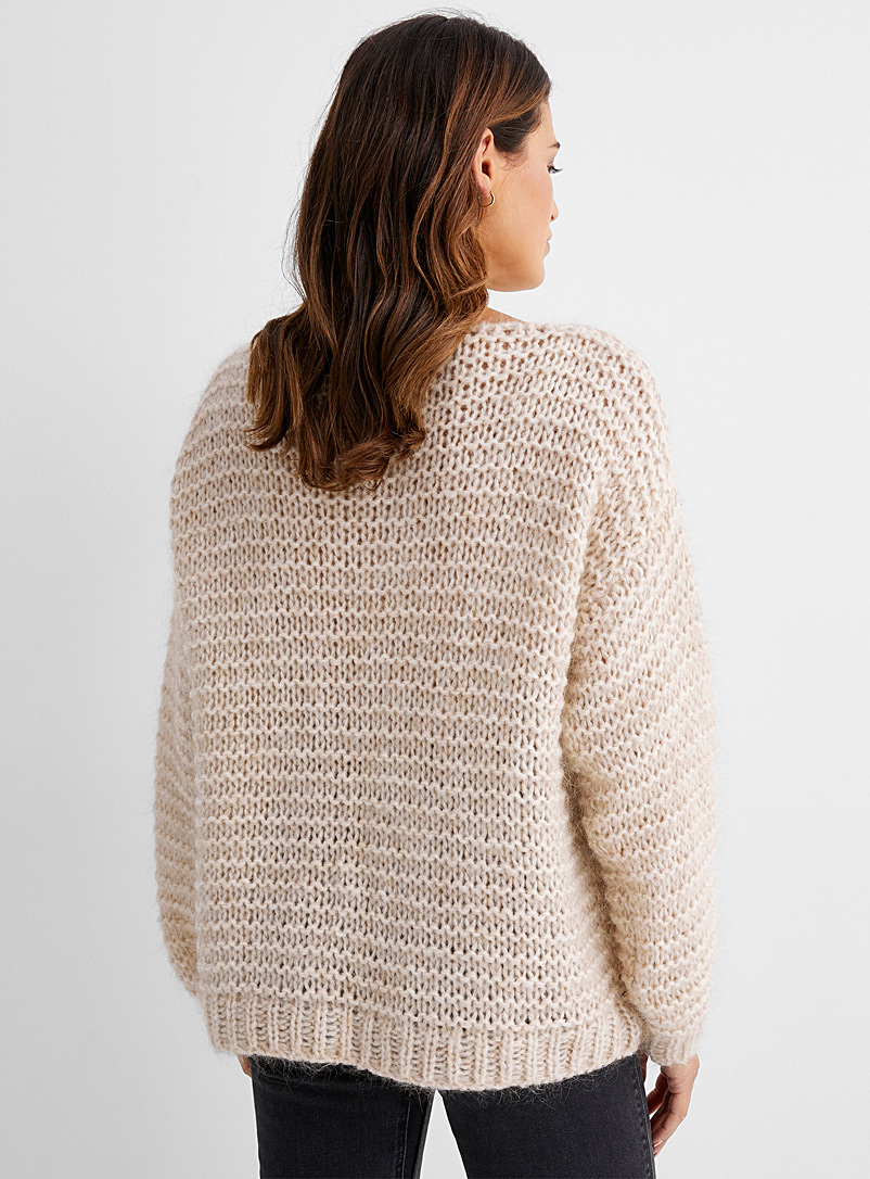 Contemporaine Dusky Pink Boat-neck mohair sweater for women