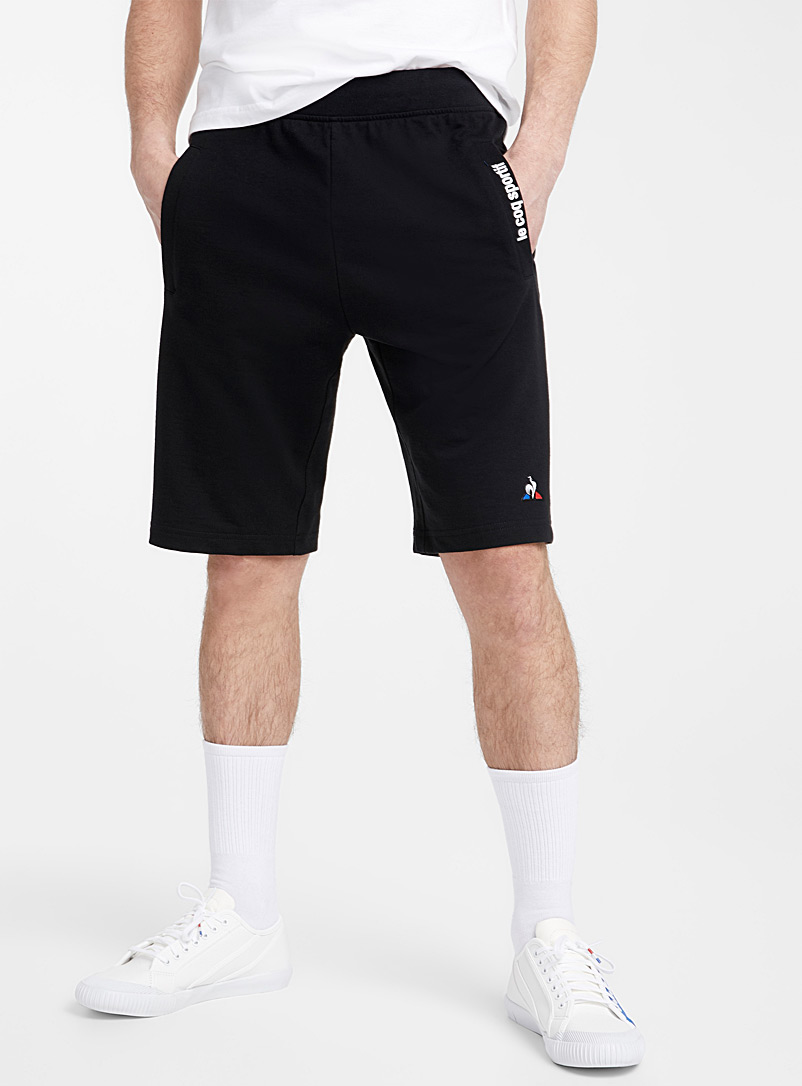 Le coq sportif Black Rooster logo sweatshirt Bermudas for men