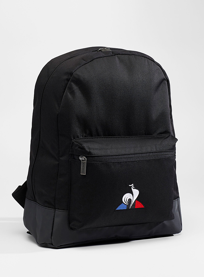 Le coq sportif Black Logo heritage backpack for men