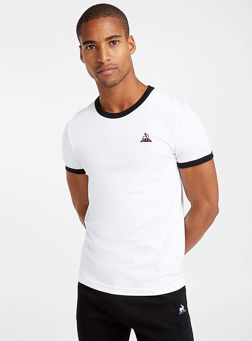 Le coq sportif White Contrast trim T-shirt for men