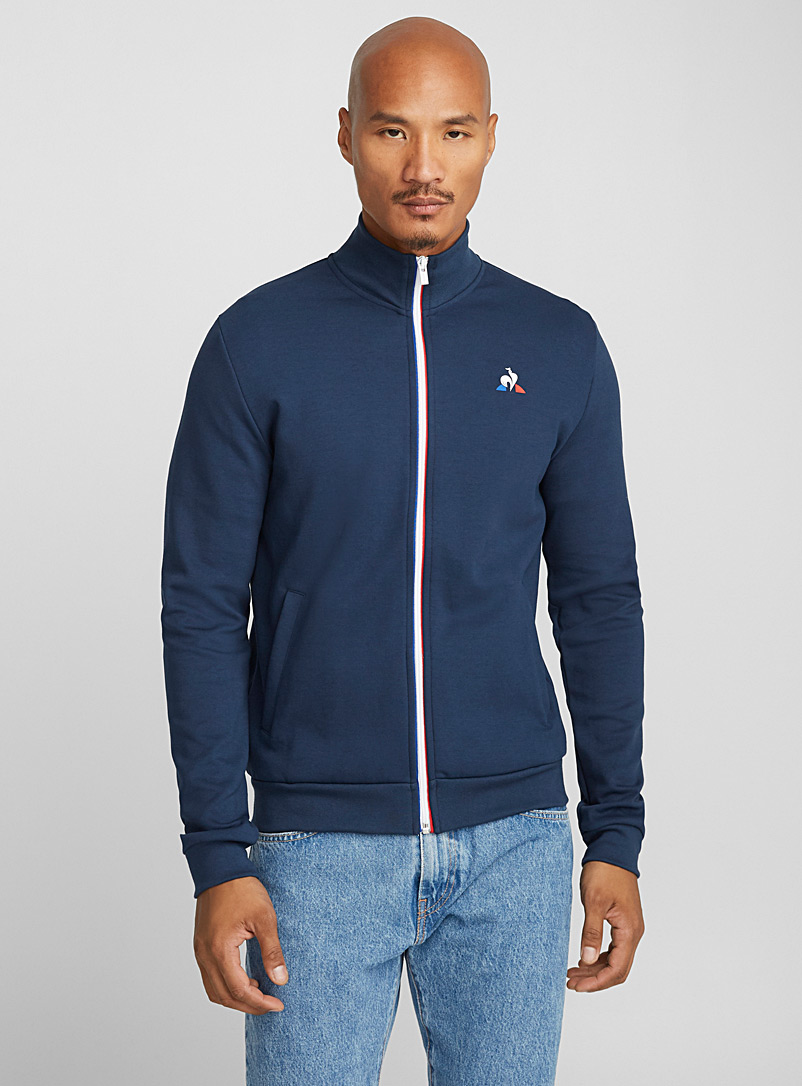 Le coq sportif Blue Tricolour-zip sweatshirt for men