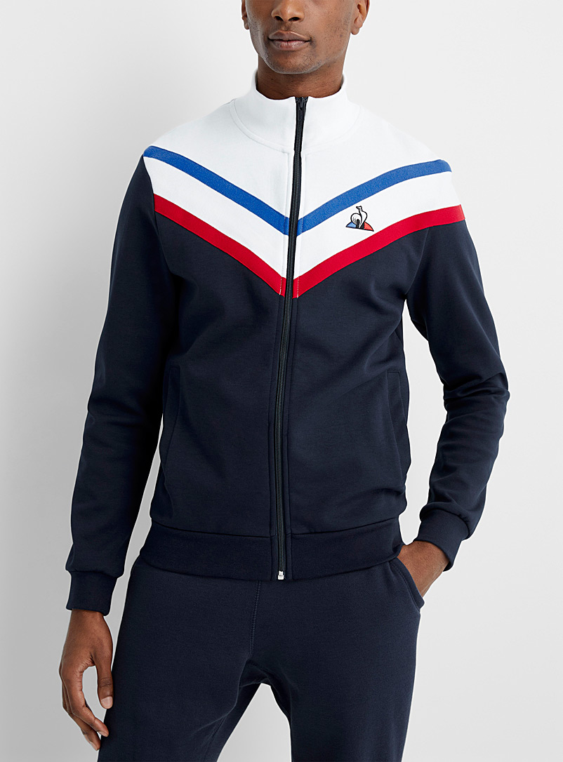 Le coq sportif Marine Blue Tricolour block track jacket for men