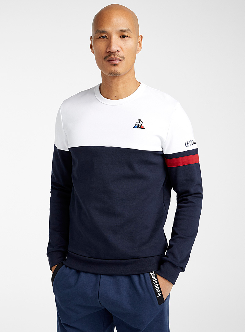 Le coq sportif Marine Blue Tricolour sweatshirt for men