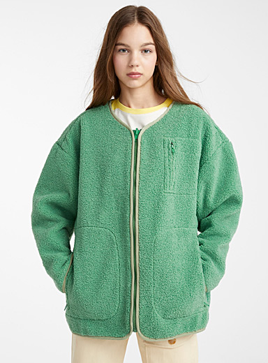 Soft green sherpa jacket
