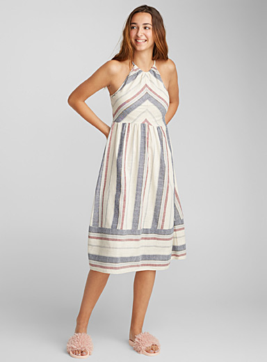 Striped peasant dress