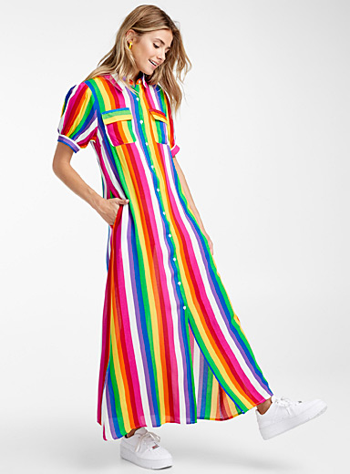 Rainbow shirtdress