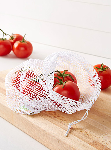 Openwork mesh reusable shopping bag