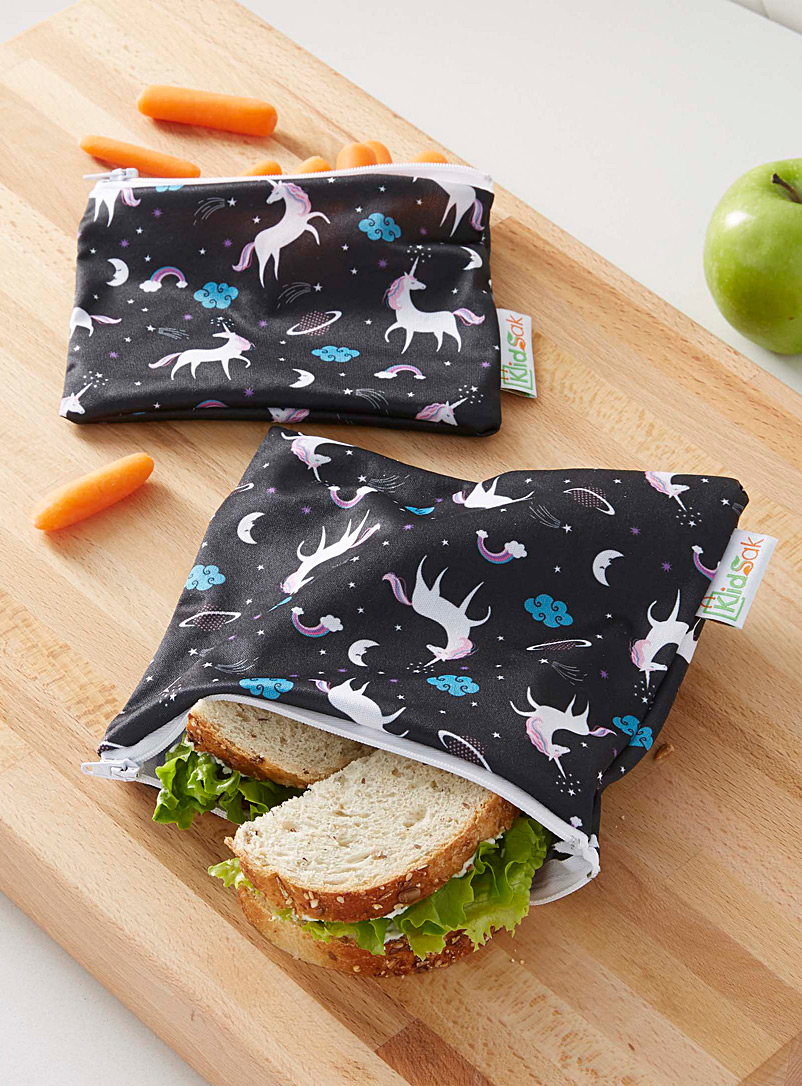 Enchanting unicorn reusable snack bags  Set of 2