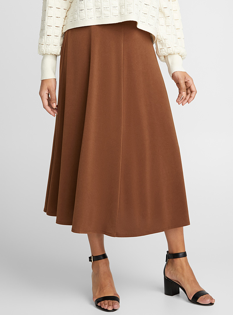 Cinnamon fluid midi skirt - Collections - Fawn