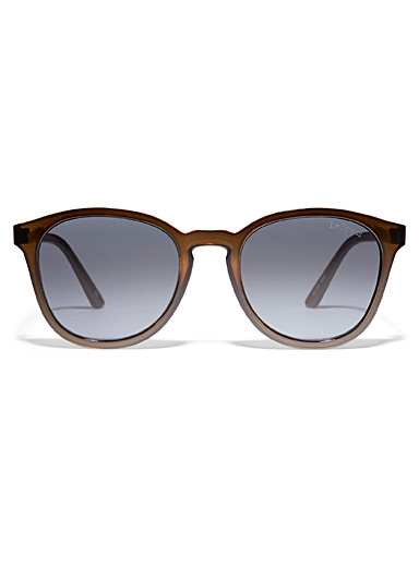 Le Specs Brown Renegade round sunglasses for women