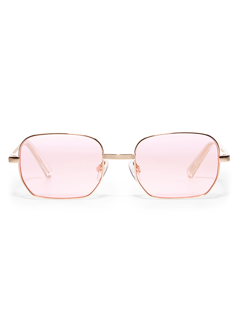 Le Specs Pink The Flash rectangular sunglasses for women
