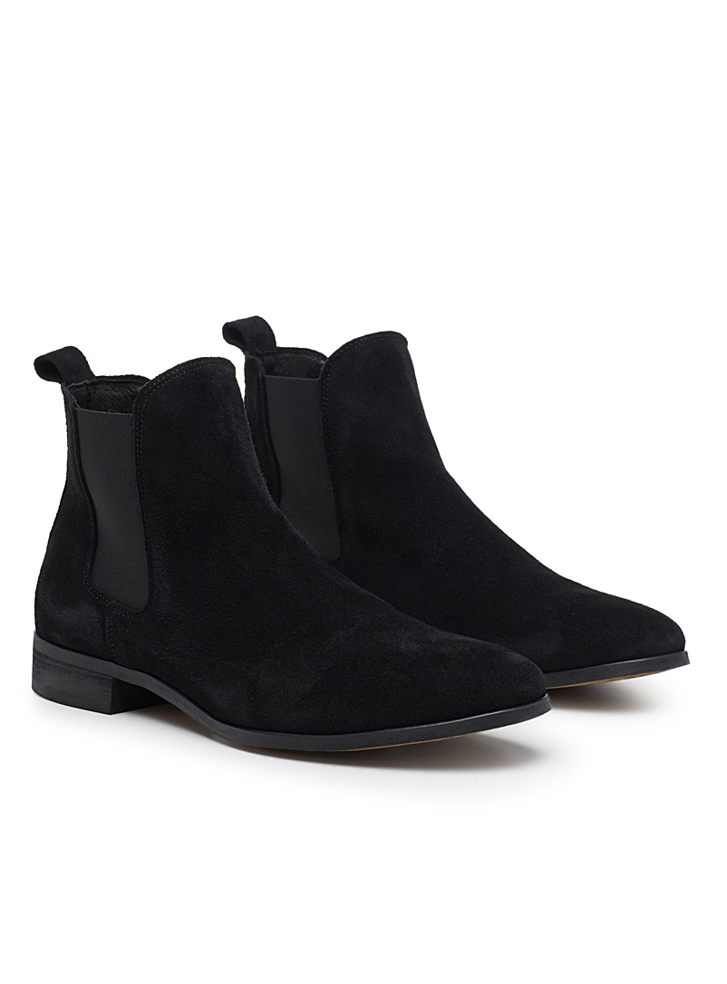 Shoe The Bear Black Chelsea suede boots for men