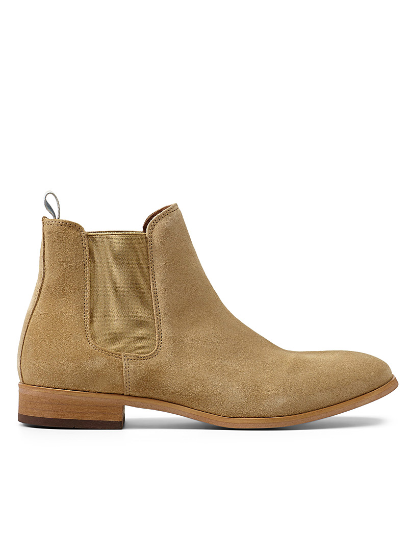 Shoe The Bear Cream Beige Chelsea suede boots for men