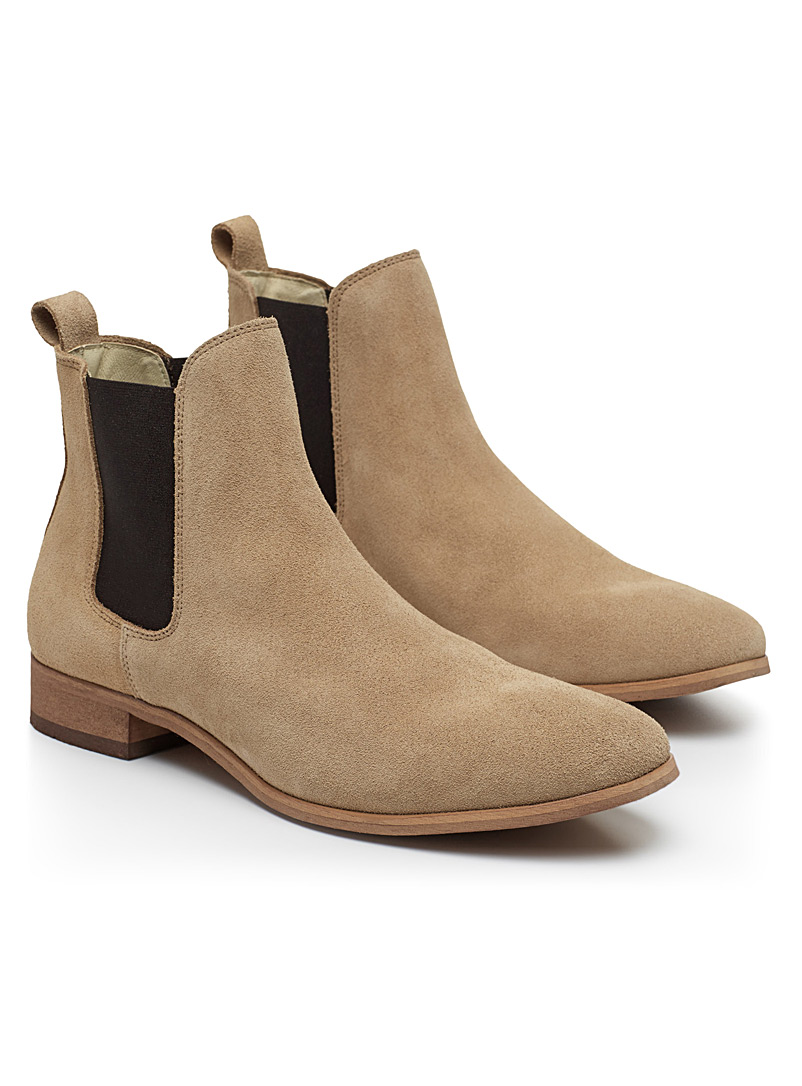 Chelsea suede boots - Boots - Sand