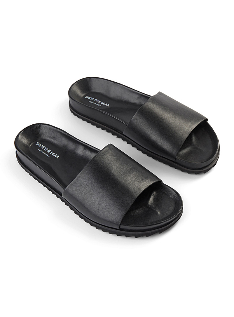 Augustin leather slides  Men