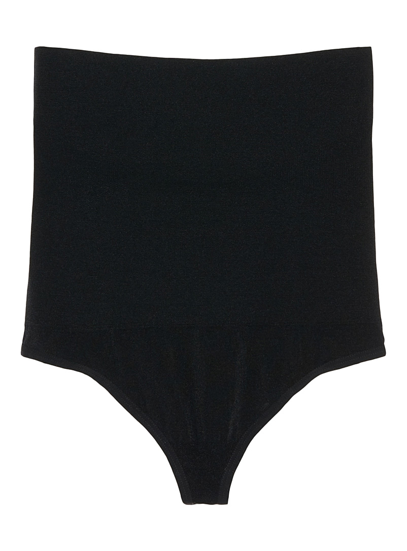 Seamless control thong - Shapewear - Black
