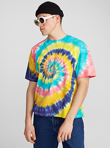 Multicolour tie-dye T-shirt