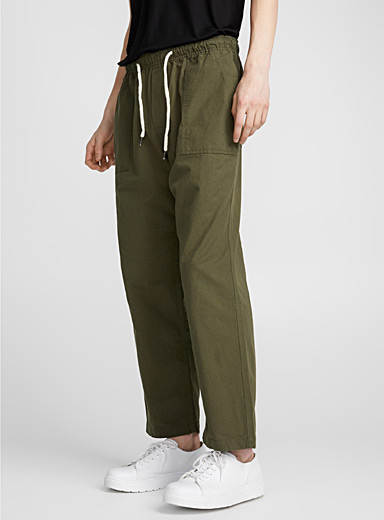 Textured canvas pant