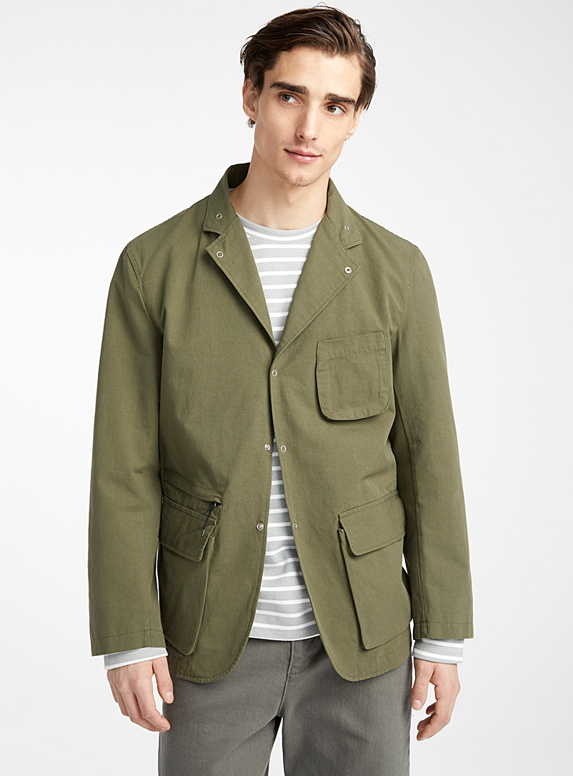 Le 31 Mossy Green Cargo jacket for men