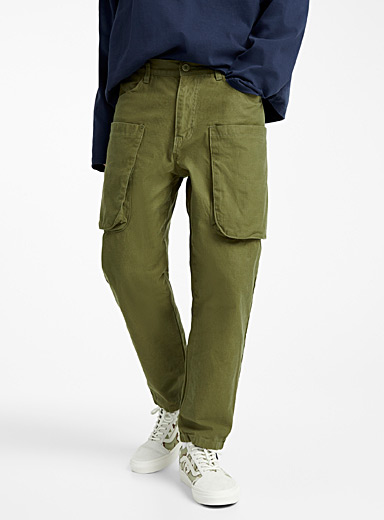 Djab Mossy Green Utility twill pant for men