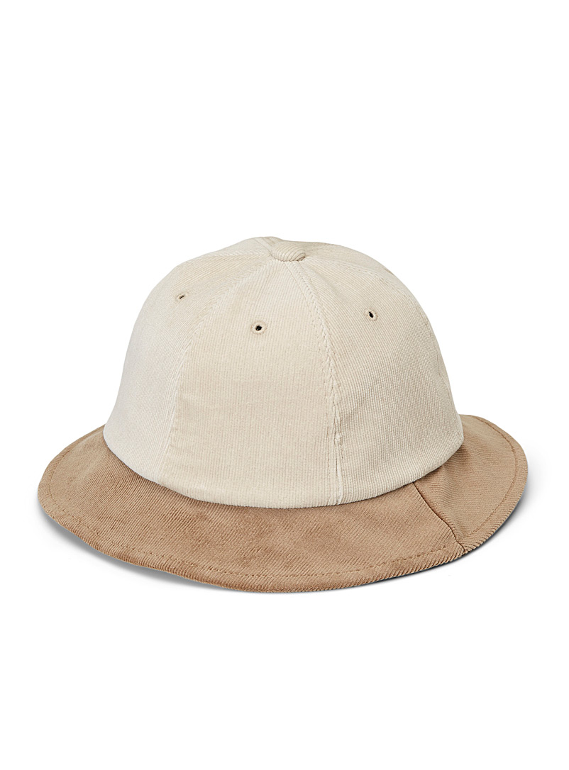 Djab Cream Beige Corduroy explorer hat for men