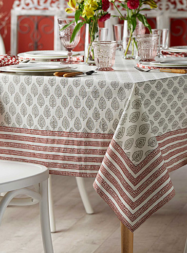 Palace of Winds woven cotton tablecloth