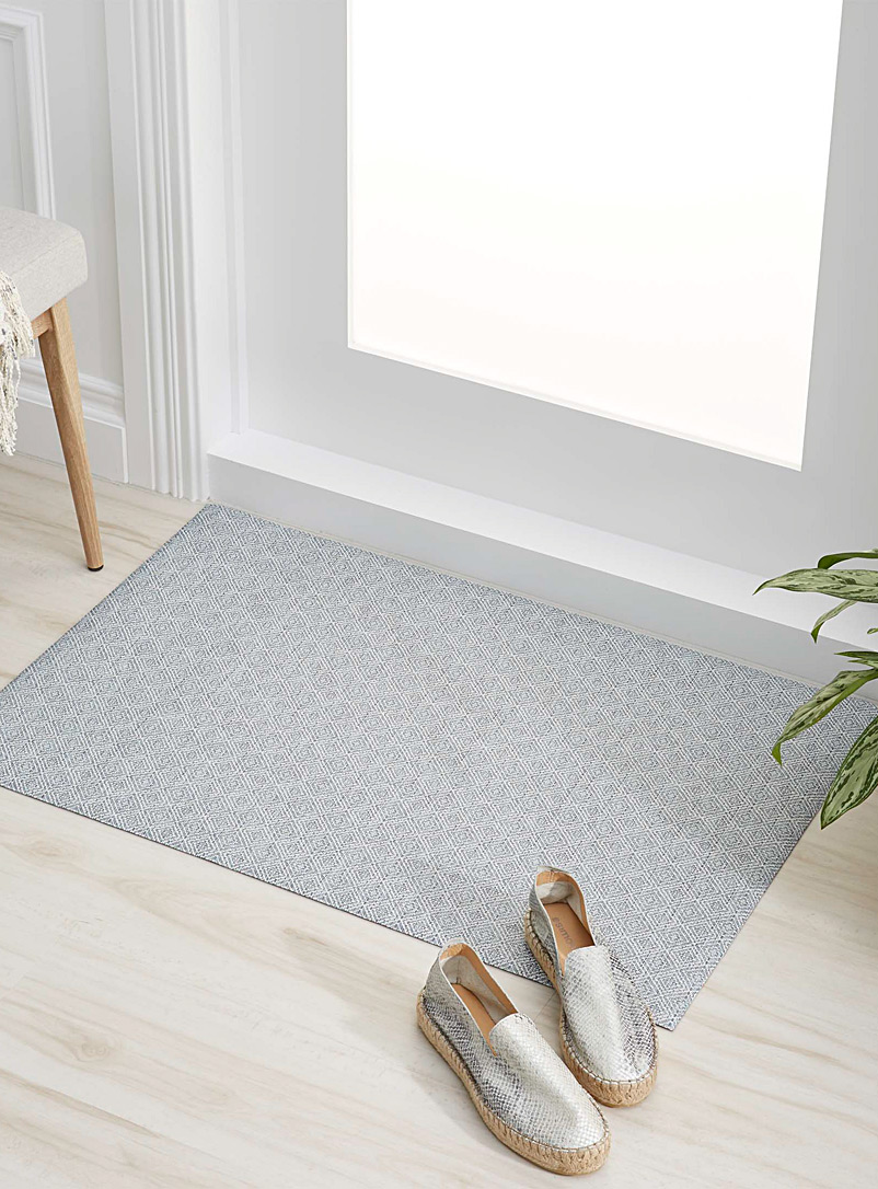 Blue diamond non-skid rug  60 x 90 cm - Small Rugs - Slate Blue