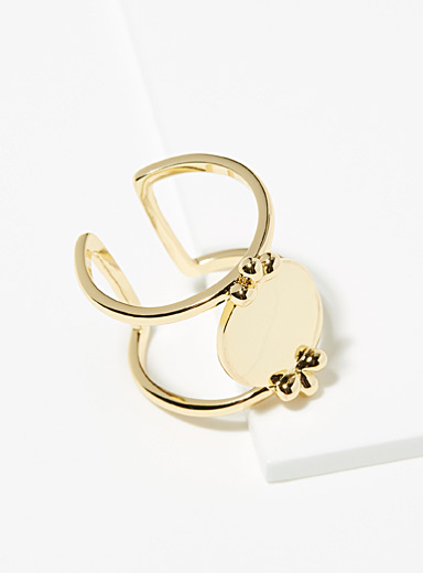 L'atelier Emma & Chloe Gold Perle ring for women