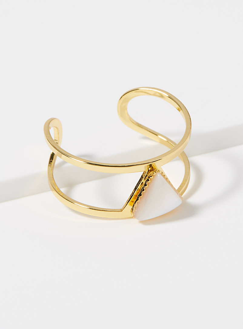 Lisa ring - Rings - Patterned Yellow