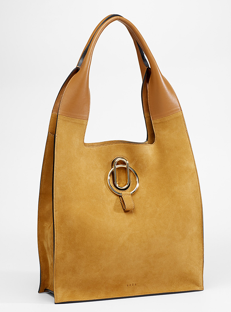Rosa suede bag - Designer Bags - Honey