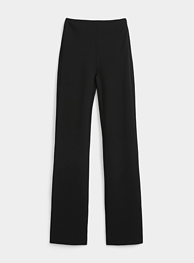 Atlein Black High-waisted structured jersey pant for women