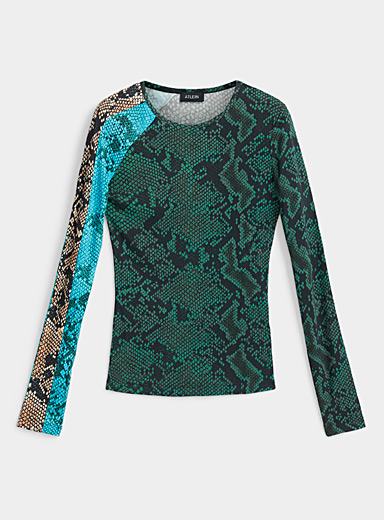 Atlein Assorted Reptile scale T-shirt for women