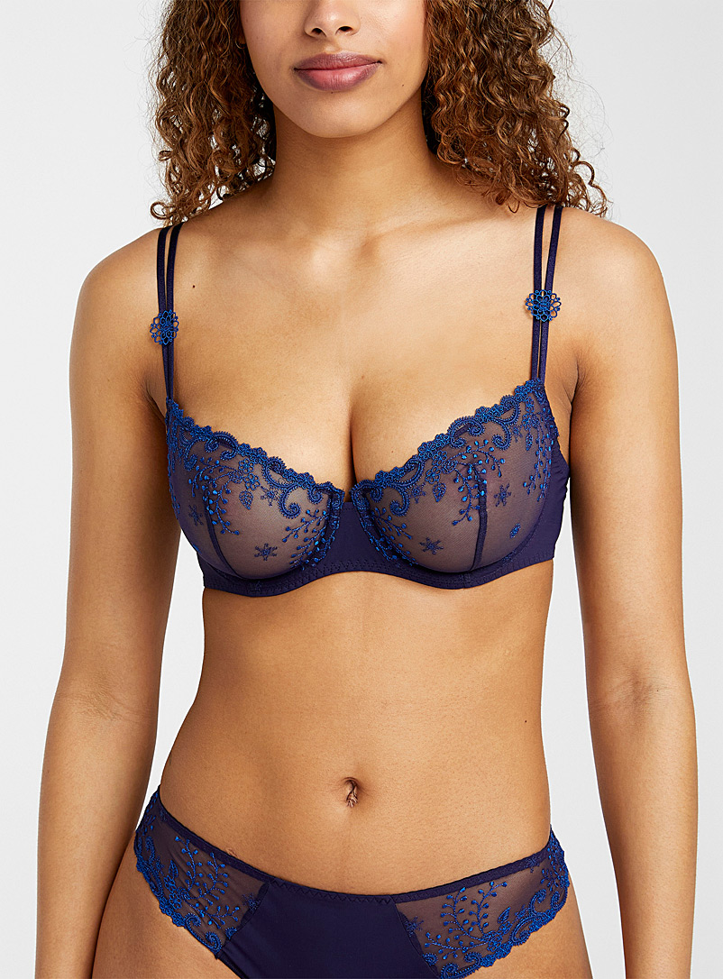 Simone Pérèle Marine Blue Delice balconette bra for women