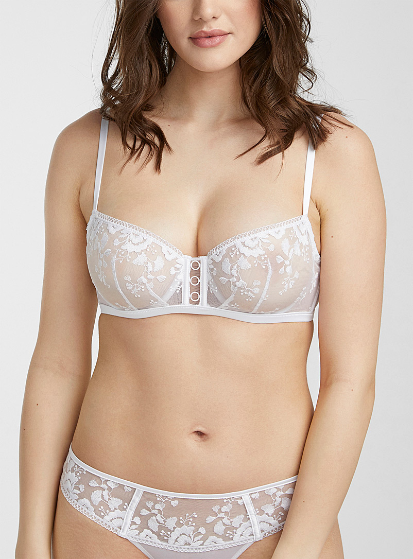 Simone Pérèle White Orpheus balconette for women