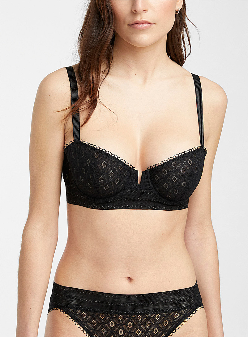 Simone Pérèle Black Suzanne balconette for women