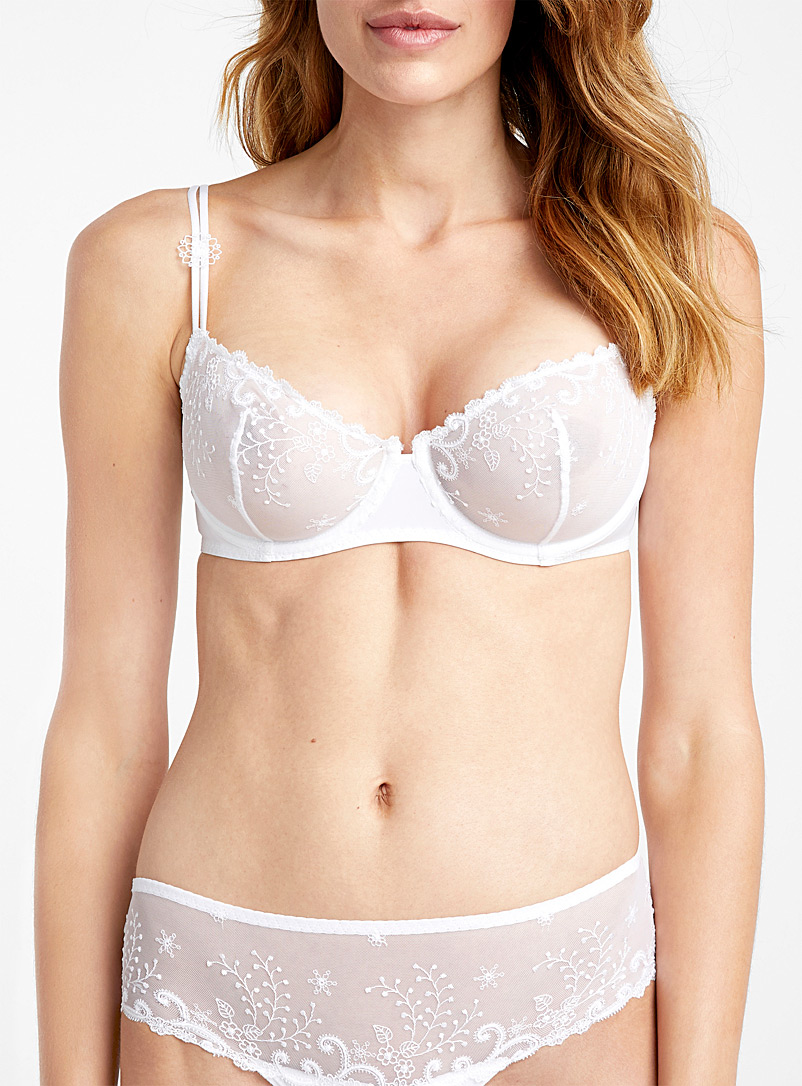Simone Pérèle White Delice balconette bra for women