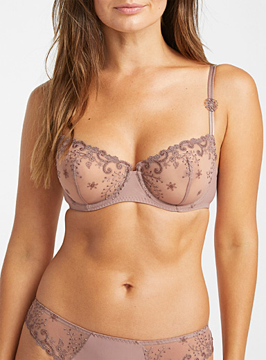 Delice purple balconette bra