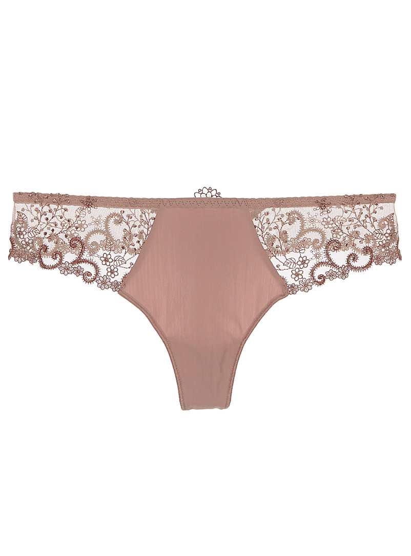Delice purple thong - Thongs - Sand