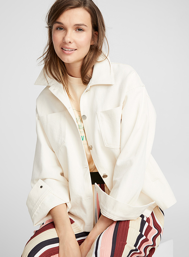 Sandy boxy jacket - Jackets - Tan