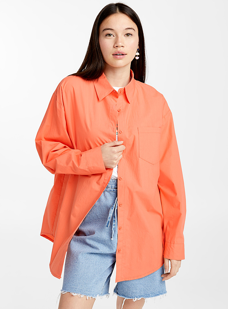 Ultra loose colourful shirt - Shirts - Orange