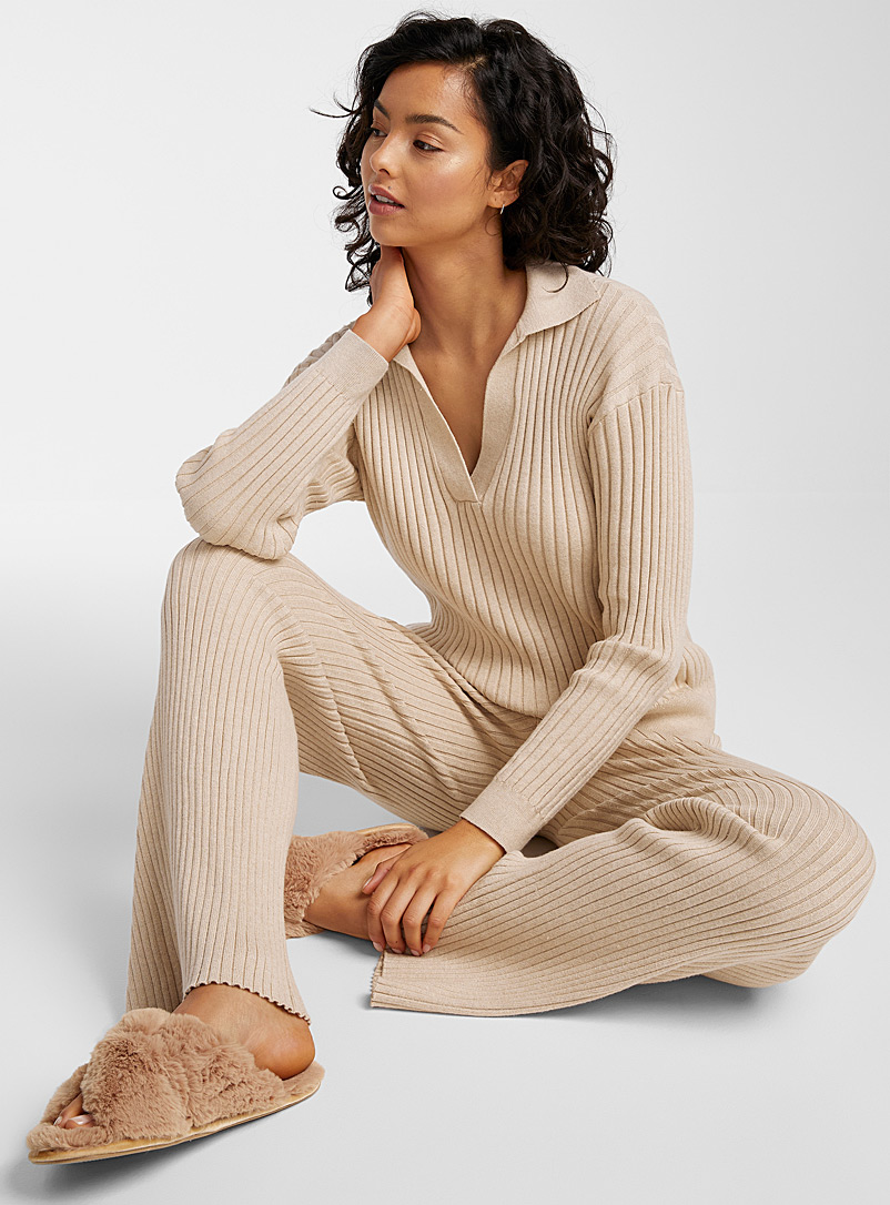 Skin Sand Generously ribbed sweater for women